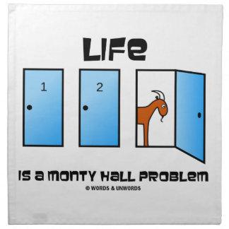 Life Is A Monty Hall Problem Three Doors Goat Napkin