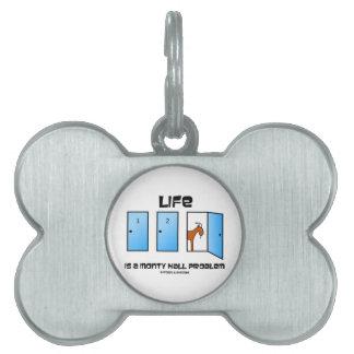 Life Is A Monty Hall Problem Three Doors Goat Pet Tag