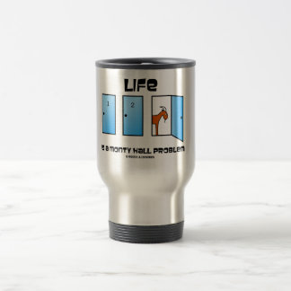 Life Is A Monty Hall Problem Three Doors One Goat Coffee Mugs