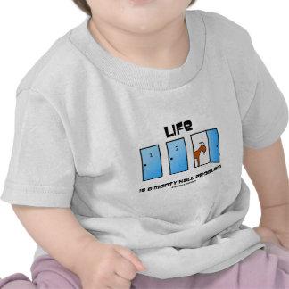 Life Is A Monty Hall Problem (Three Doors) Tee Shirts