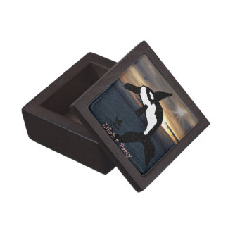 life is a party Killer whale gift box