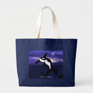 Life is a Party Orca whale bag