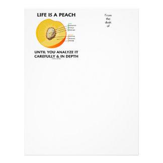 Life Is A Peach Until You Analyze Carefully Depth Letterhead
