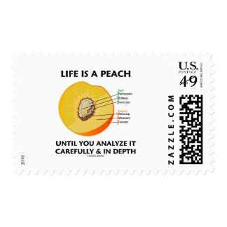 Life Is A Peach Until You Analyze Carefully Depth Postage Stamps