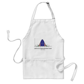 Life Is A Percentage Play (Statistics Humor) Adult Apron