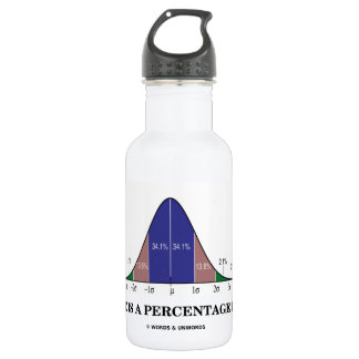 Life Is A Percentage Play (Statistics Humor) Stainless Steel Water Bottle