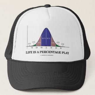 Life Is A Percentage Play (Statistics Humor) Trucker Hat