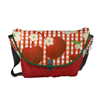 Life is a Picnic with Cherries Courier Bags