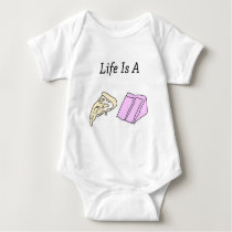 Life is a Pizza Cake Baby Bodysuit