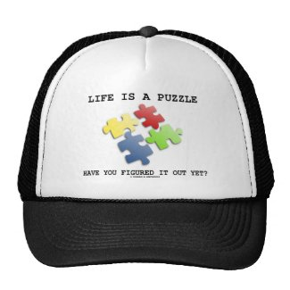 Life Is A Puzzle Have You Figured It Out Yet? Hat