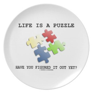 Life Is A Puzzle Have You Figured It Out Yet? Plate