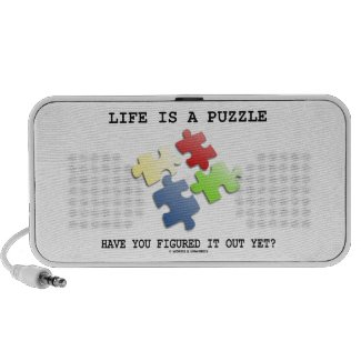 Life Is A Puzzle Have You Figured It Out Yet? Notebook Speaker