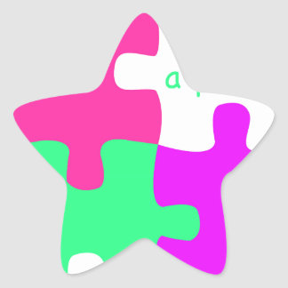Life is a puzzle star sticker
