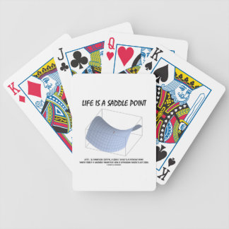 Life Is A Saddle Point (Math and Geometry) Bicycle Playing Cards