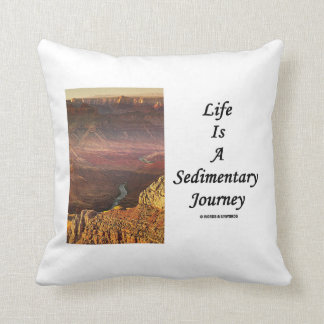 Life Is A Sedimentary Journey (Grand Canyon) Throw Pillow