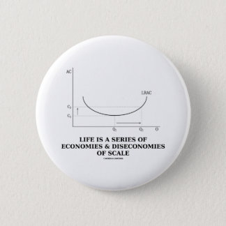 Life Is A Series Of Economies & Diseconomies Pinback Button