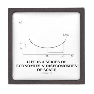 Life Is A Series Of Economies & Diseconomies Scale Keepsake Box