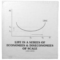 Life Is A Series Of Economies & Diseconomies Scale Napkins