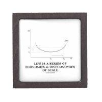 Life Is A Series Of Economies & Diseconomies Scale Premium Trinket Box