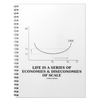 Life Is A Series Of Economies & Diseconomies Scale Spiral Notebooks