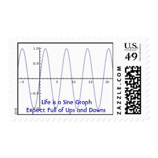 Life is a Sine Graph Postage