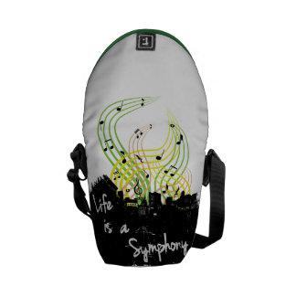 Life is a Symphony Bag Courier Bag
