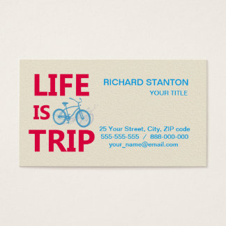 Life is a trip business card