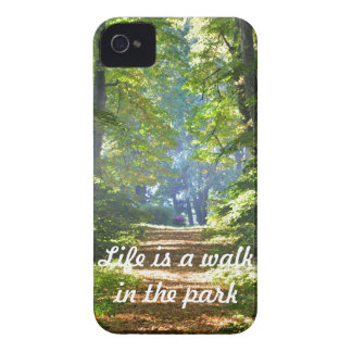 Life is a walk in the park iPhone 4 Cover