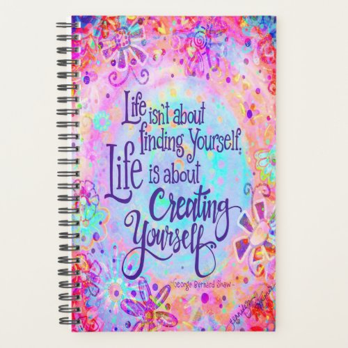 Life is About Creating Yourself Planner