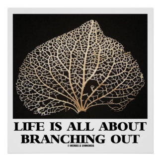 Life Is All About Branching Out (Vein Skeleton) Print
