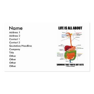 Life Is All About Showing That You've Got Guts Double-Sided Standard Business Cards (Pack Of 100)