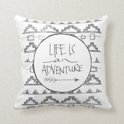 Life Is An Adventure by VOL25 Pillows