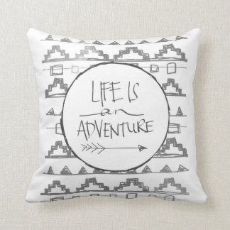 Life Is An Adventure by VOL25 Throw Pillow