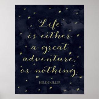 Life Is An Adventure - Helen Keller Quote Print