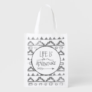 Life Is An Adventure Market Totes