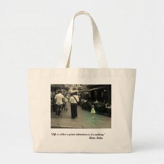 Life is an adventure Tote Jumbo Tote Bag