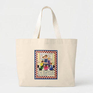Life Is an Echo Large Tote Bag