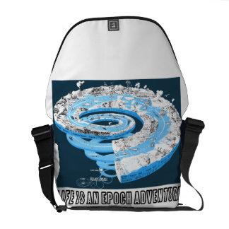 Life Is An Epoch Adventure (Geological Timeline) Messenger Bag