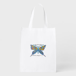 Life is art in motion reusable grocery bags