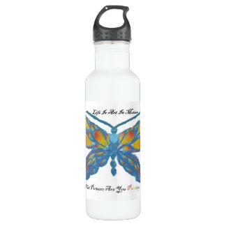 Life is art in motion water bottle