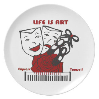 Life Is Art Party Plate