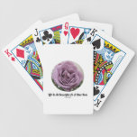 Life Is As Beautiful As A Blue Rose (Flower) Bicycle Card Decks
