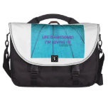 Life is awesome laptop commuter bag