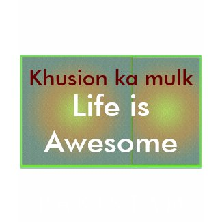 Life is Awesome - PAKISTAN JAN 11 2011 shirt