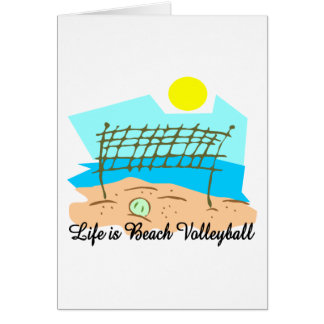 Life  Is Beach Volleyball Greeting Cards