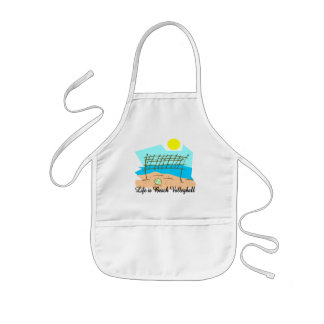 Life  Is Beach Volleyball Kids' Apron