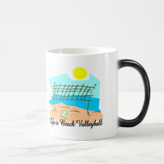Life  Is Beach Volleyball Magic Mug