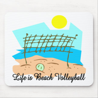 Life Is Beach Volleyball Mousepad