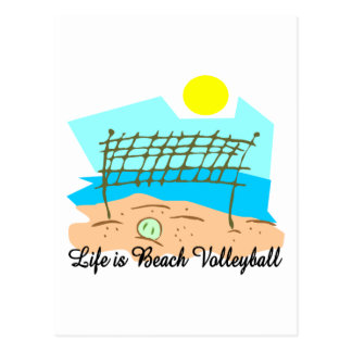 Life  Is Beach Volleyball Postcard