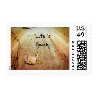 Life Is Beachy Postage Stamp